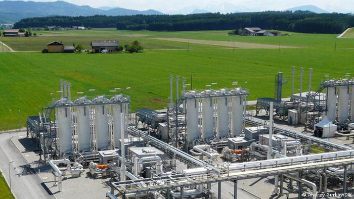 Австрийское газохранилище Хайдах, используемое Газпромом