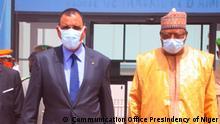 ***ACHTUNG: Bild nur zur mit den Rechteinhabern abgesprochenen Berichterstattung verwenden!*** via Eric Topona Präsident des Niger, Mohamed Bazoum am 7.7.2021. Rechte: Communication Office Presindency of Niger