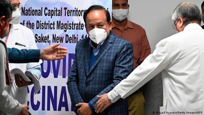 Indien Gesundheitsmninister Harsh Vardhan