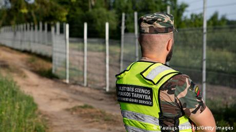 على الحدود الليتوانية -البيلاروسية