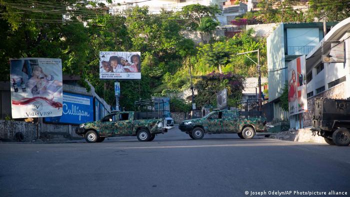 Military vehicles in Haiti