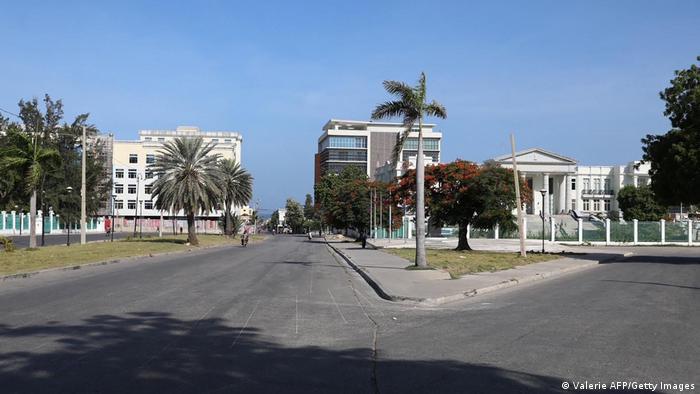 Empty Haiti streets