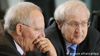 Finance Minister Schaeuble and Economics Minister Bruederle