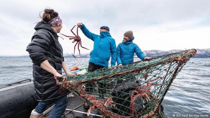 Pescadores en Tierra del Fuego.