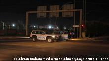 ERBIL, IRAQ - JULY 07: Security measures are taken around the airport after a drone attack targeted Erbil International Airport in northern Iraq where US-led coalition troops are stationed in Erbil, Iraq on July 07, 2021. Ahsan Mohammed Ahmed Ahmed / Anadolu Agency