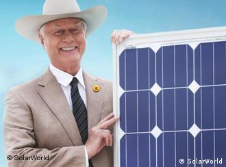 Larry Hagman poses in a SolarWorld advertisment