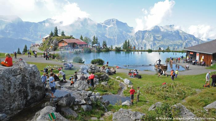 Schweiz|Bergstation Brunni mit Härzlisee