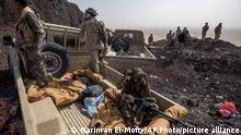 20.06.2021 - Yemeni fighters backed by the Saudi-led coalition during clashes with Houthi rebels on the Kassara front line near Marib, Yemen, Sunday, June 20, 2021. On the most active front line in Yemen's long civil war, the months-long battle for the city of Marib has become a dragged-out grind with a steady stream of dead and wounded from both sides. (AP Photo/Nariman El-Mofty)