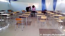 06.07.2021 Angola | Studenten brechen Hochschulbildung ab Leeres Klassenzimmer