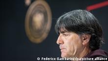 Fußball: EM, Pressekonferenz Deutschland.Fußball: EM, Nach dem Aus der deutschen Mannschaft gegen England, Online-Pressekonferenz. Der scheidende Bundestrainer Joachim Löw nimmt an der Pressekonferenz teil. +++ dpa-Bildfunk +++