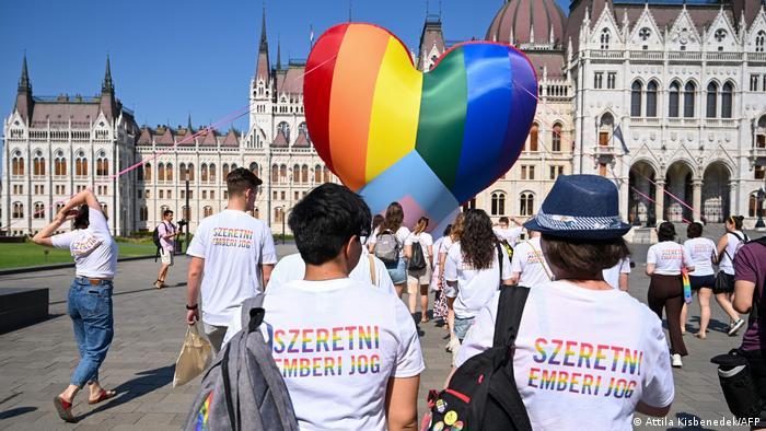 Ungaria protest LGBTQ la Budapesta