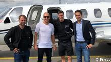 Mit einem Learjet zur Preisverleihung für den SPORT BILD-Award für Lewandowski als Sportler des Jahres