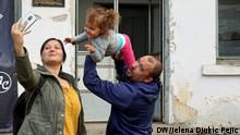 Pirot,. 08.07.2021. Sanja Cvetkovic and her family are looking at one of the abandoned houses in the village on Stara Planina near Pirot.. Serbian Ministry of Rural Care has started a project to award grants for the purchase of rural houses for young married couples.