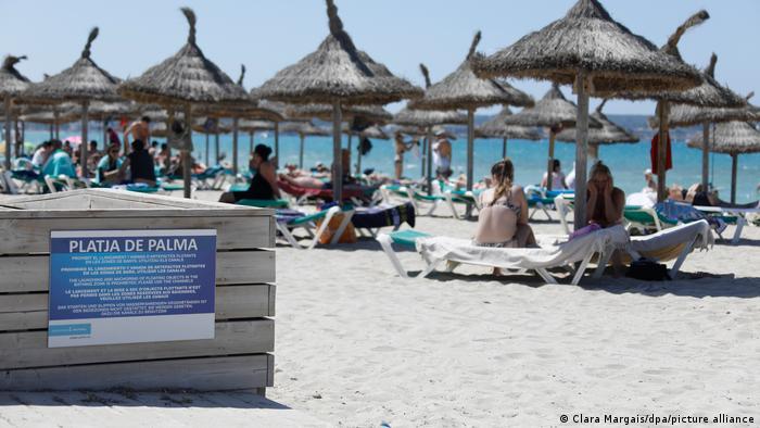 Spanien Corona-Pandemie - Tourismus auf Mallorca