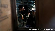"*** Dieses Bild ist fertig zugeschnitten als Social Media Snack (für Facebook, Twitter, Instagram) im Tableau zu finden: Fach ""Images"" —> Weltspiegel/Bilder des Tages *** An Afghan National Army soldier keeps watch from a check post at Mahipar, on Jalalabad-Kabul highway Afghanistan July 8, 2021. REUTERS/Mohammad Ismail TPX IMAGES OF THE DAY"
