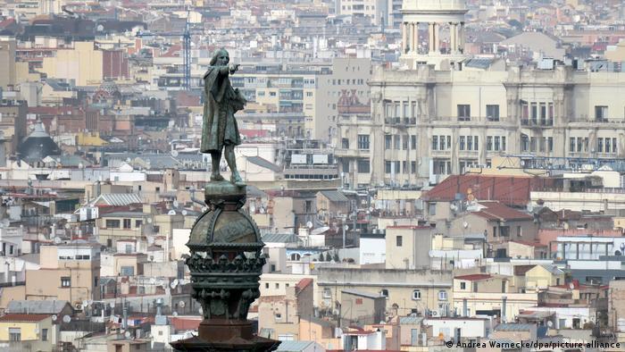 Monumento a Cristóbal Colón en Barcelona.