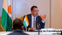 8.7.2021, Berlin Treffens zwischen dem Präsidenten Mohamed Bazoum von Niger und seinen in Deutschland lebenden Mitbürgern