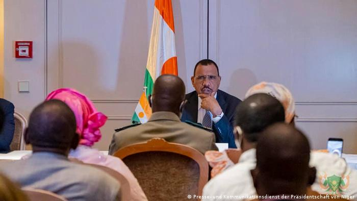 Mohamed Bazoum a rencontré des concitoyens nigériens lors de son séjour à Berlin (Archives, Berlin 08.07.2021)