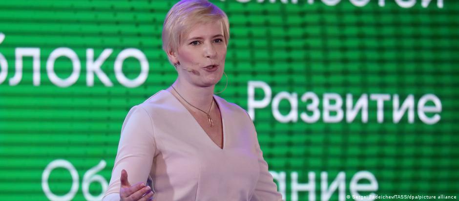 Кандидат в Госдуму от партии Яблоко Марина Литвинович