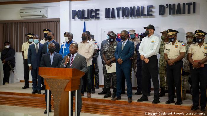 Interims-Ministerpräsident Claude Joseph bei einer Pressekonferenz am vergangenen Donnerstag