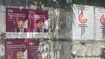 Предвыборные плакаты в Кишиневе