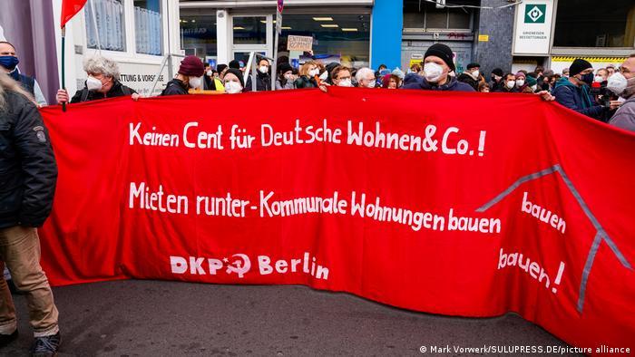 Deutschland Berlin | Demo gegen Aufhebung des Mietendeckels in Berlin