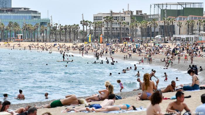Strandabschnitt in Barcelona