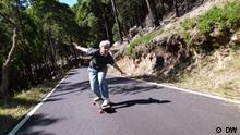 DW Sendung Euromaxx Giu Alfeo, Skateboard, Lissabon, Brett, Longboard Dancing, Tanz