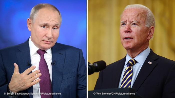 Kombo I Russland Wladimir Putin I USA Joe Biden