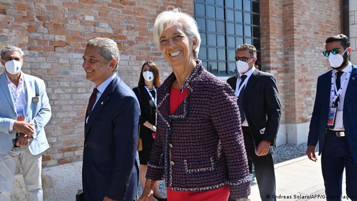 Italien   G20 Gipfel in Venedig   Christine Lagarde