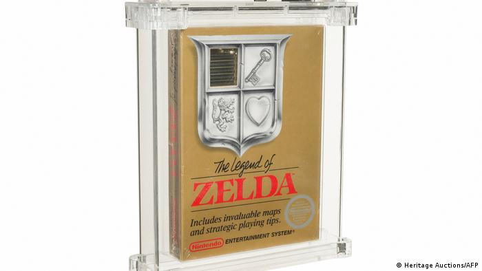 A handout photo of a 'Legend of Zelda' game that sold at auction