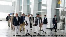 Präsident Ashraf Ghani hat am Samstag den Flughafen Khost in Afghanistan eingeweiht Credit: Presseabteilung des Präsidenten von Afghanistan