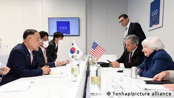 Italien Venedig | G20 - Hong Nam-Ki und Janet Yellen im Gespräch