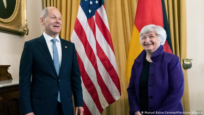 G20 - Janet Yellen and Olaf Scholz