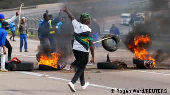 Partisans de Jacob Zuma dans la rue le 9 juillet 2021