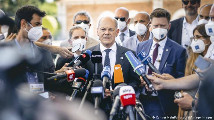 Italien G-20 Treffen der Finanzminister in Vendig | PK Olaf Scholz