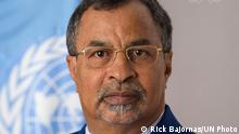 Portrait of Mahamat Saleh Annadif, Special Representative-designate of the Secretary-General for Mali and incoming Head of the United Nations Multidimensional Integrated Stabilization Mission in Mali (MINUSMA).
