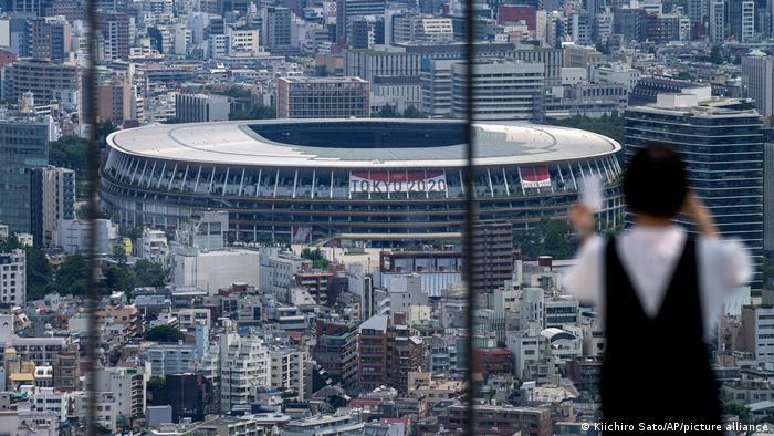 Japan | Olympiade in Tokio 2021 - Blick auf das Nationalstadion