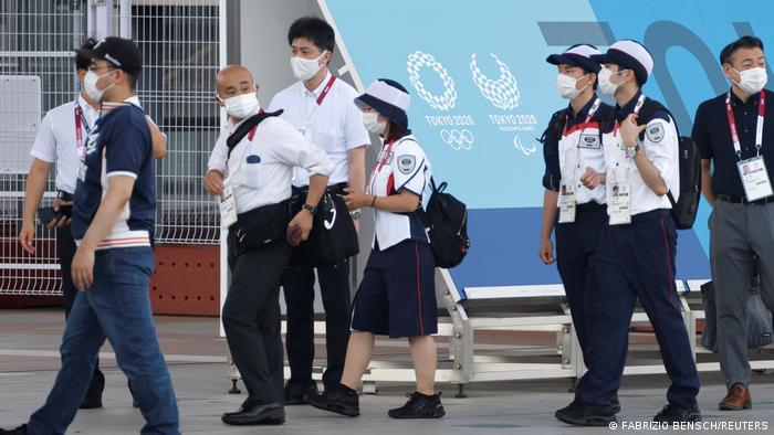 Персонал, задействованный на летней Олимпиаде в Токио