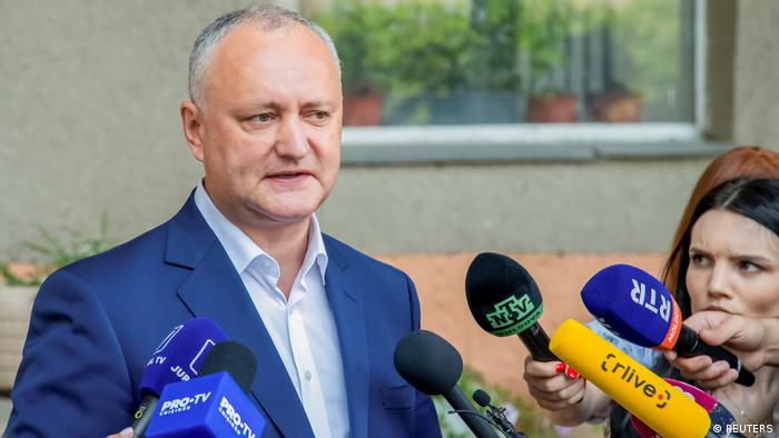 Republik Moldau Parlamentswahl 2021 |Chisinau |Igor Dodon, Sozialistische Partei