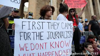 Georgien Tiflis | Protest nach Tod des Journalisten Alexander Lashkarava