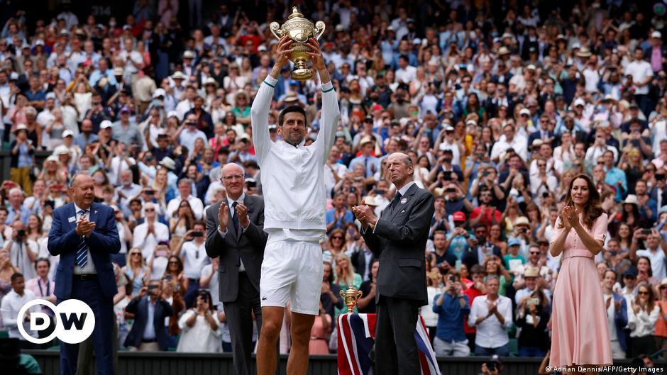 Djokovic wins Wimbledon, matching Nadal and Federer in career Grand Slams