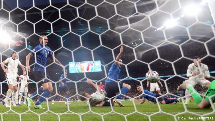 Italy's Leonardo Bonucci scores the equalizer