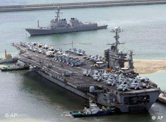 Ein US-Flugzeugträger vor der Küste Koreas