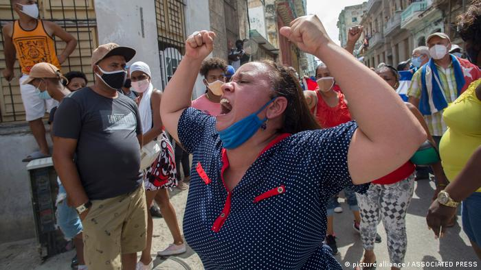 APTOPIX Cuba Protest
