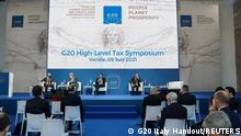 09.07.2021 | Participants attend the G20 high-level tax symposium during the G20 finance ministers and central bank governors' meeting in Venice, Italy, July 9, 2021. G20 Italy/Handout via REUTERS ATTENTION EDITORS - THIS IMAGE HAS BEEN SUPPLIED BY A THIRD PARTY. NO RESALES. NO ARCHIVES