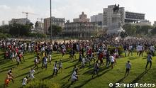 People walk during protests against and in support of the government, amidst the coronavirus disease (COVID-19) outbreak, in Havana, Cuba July 11, 2021. REUTERS/Stringer NO RESALES. NO ARCHIVES
