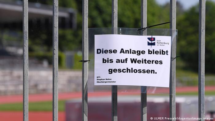 Rottenburg Leichtathletik - Sportanlage geschlossen