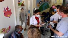 12.07.2021 Corona Impfung in Nord Mazedonien ohne Termin, Nord Mazedonien, Skopje.