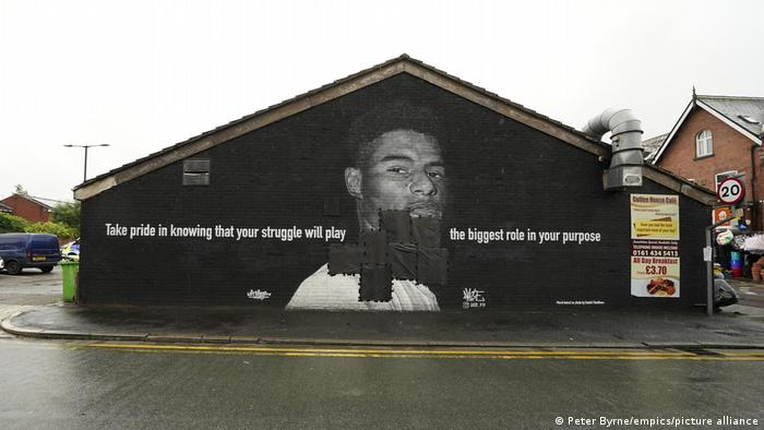 Manchester'da Rashford'un tahrip edilen resmi